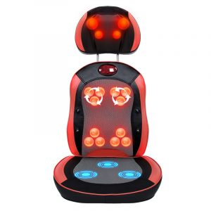 chair back massager heating rolling kneading back massager shiatsu massage cushion shiatsu infrared massage chair cover cushion