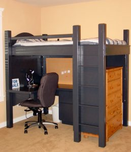 chair beds for adults compact black loft bed for adult boys with workspace and storage underneath