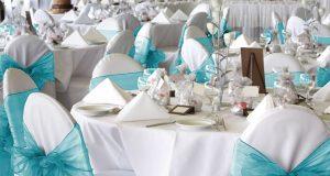 chair covers and sash wed o sash turq