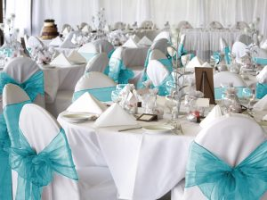 chair covers and sash wed o sash turq