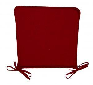 chair cushion with ties basic burgundy