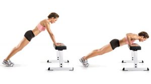 chair exercise for abs incline pushup
