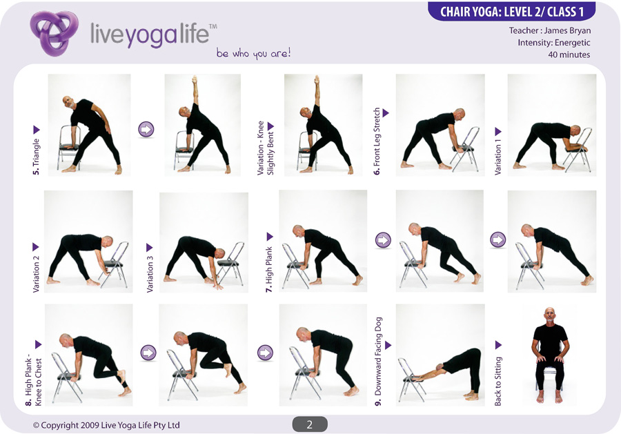 chair yoga sequence