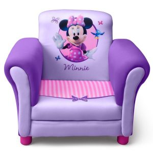 child lounge chair delta minnie mouse purple upholstered childrens chair bc a c a bcdb