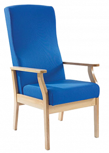 children high chair blue wooden chair