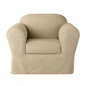 club chair slipcovers sure fit twill supreme piece set chair slipcover