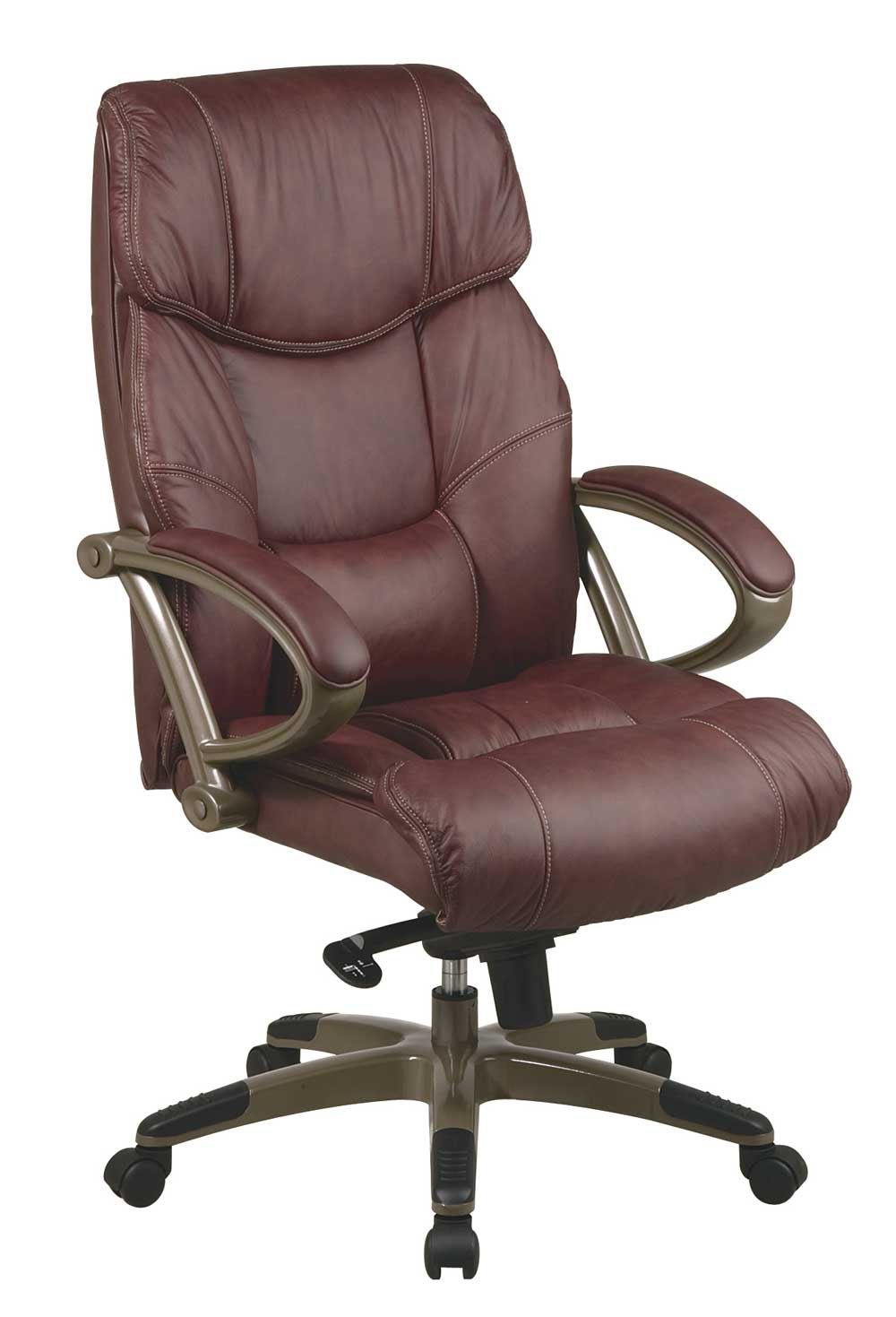 with flash back comfortable multifunction furniture high lumbar support com black dp amazon leather executive chair knob swivel desk arms