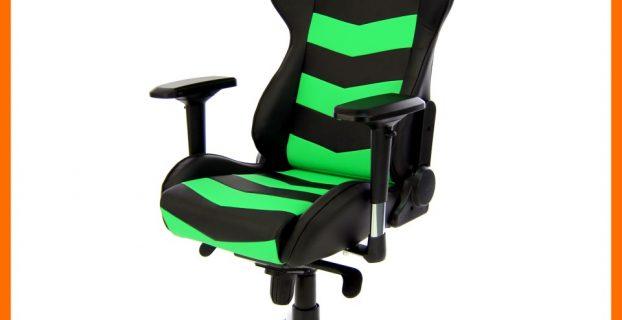 computer gaming chair thunderbolt green