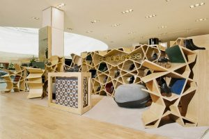 cool kid chair modern shoe store interior an ancient form design