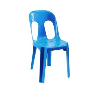 cross back chair blue plastic chair