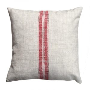 cushion for outdoor chair linen cushion red stripe