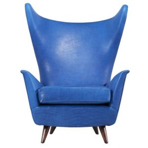 dark blue accent chair item l
