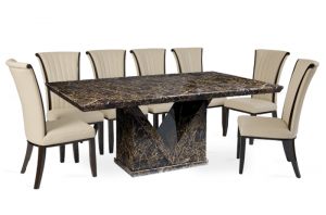 dining chair dimensions mocha marble dining table with alpine leather chairs or seater