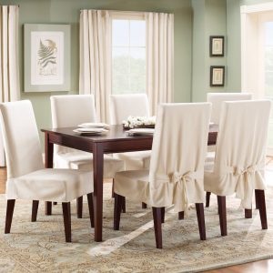 dining room chair covers sure fit cotton duck dining room chair cover