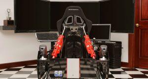 diy gaming chair racingsimulatorfromrearactuatorsinmiddle