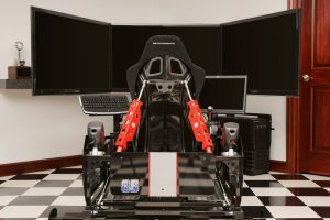 diy gaming chair racingsimulatorfromrearactuatorsinmiddle