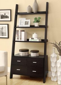diy office chair leaning ladder bookcase cacpuccino