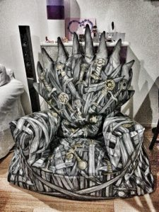 diy throne chair design iron armchair