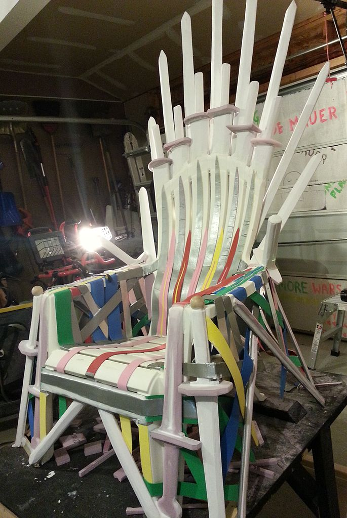 diy throne chair