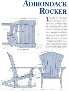 double adirondack chair plans adirondack rocking chair plans
