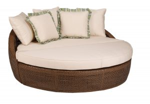 double lounge chair outdoor brown luxurious round outdoor lounge chair