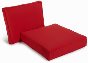 double lounge chair outdoor red outdoor seat cushions