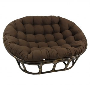 double papasan chair international caravan rattan double papasan chair with micro suede cushion ms