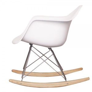 eames chair knock offs charles eames style cool white plastic retro rocking chair p image