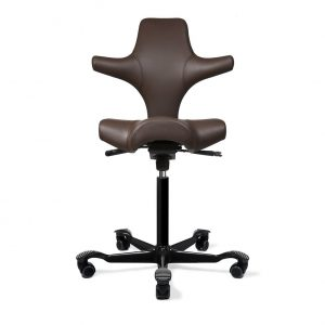 ergo depot capisco chair leather chocolate black