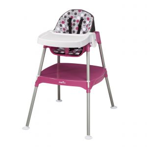 evenflo high chair convertible in high chair