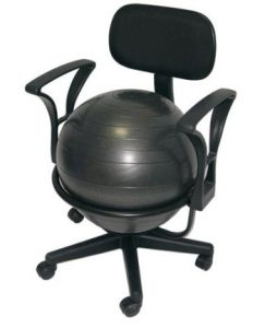 exercise ball office chair aeromat deluxe fitness ball chair
