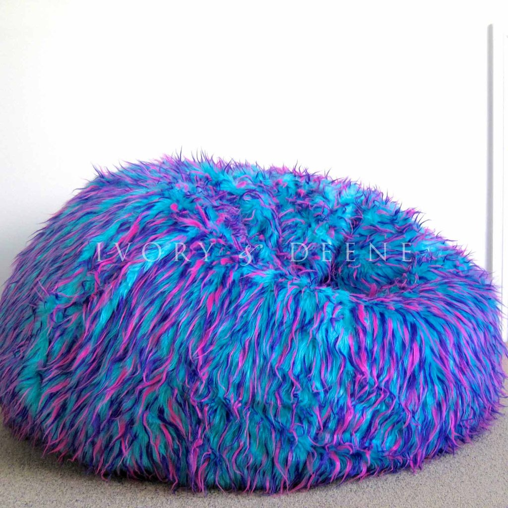 Brilliant Faux Fur Bean Bag Chair Bangkokfoodietour Com Inzonedesignstudio Interior Chair Design Inzonedesignstudiocom