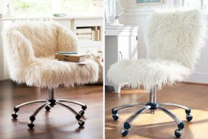 faux fur desk chair fur