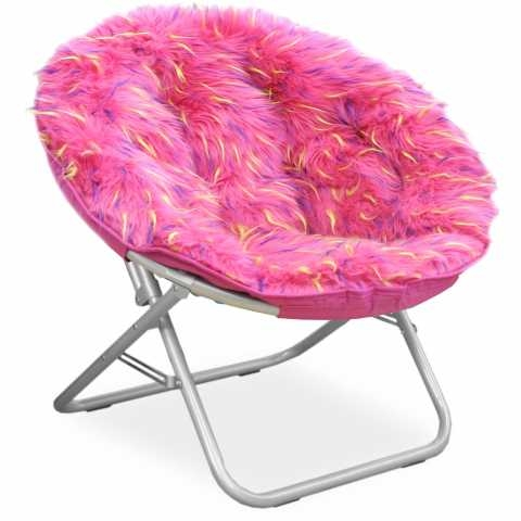 faux fur saucer chair