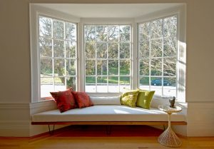 floor lounge chair bay window decorating ideas living room midcentury with bay window narrow plank wood floor