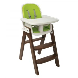foldable high chair oxo tot sprout highchair green walnut