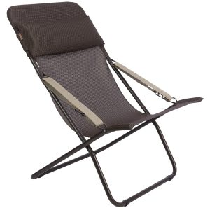 foldable lounge chair lafuma transabed xl folding lounge chair batyline in mocha marron brown frame~p~t ~