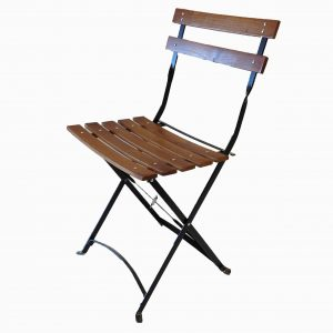 folding chair with canopy french bistro chair angle