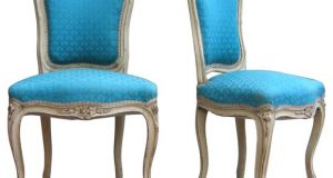 french provincial chair blue upholstered french chairs