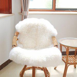 fur desk chair xcm soft shaggy living room floor carpet fluffy chair cover mat sofa cushion white nologo x