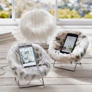 fur desk chair faux fur mini hang a round phone chair c