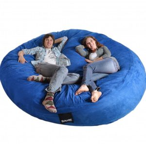 giant beanbag chair royal blue foam bean bag lovesac big feet