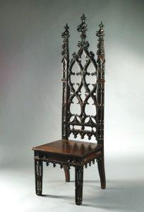 giraffe high chair gothic revival mahoganized pak hall chair