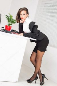 girls table and chair depositphotos stock photo sexy business woman