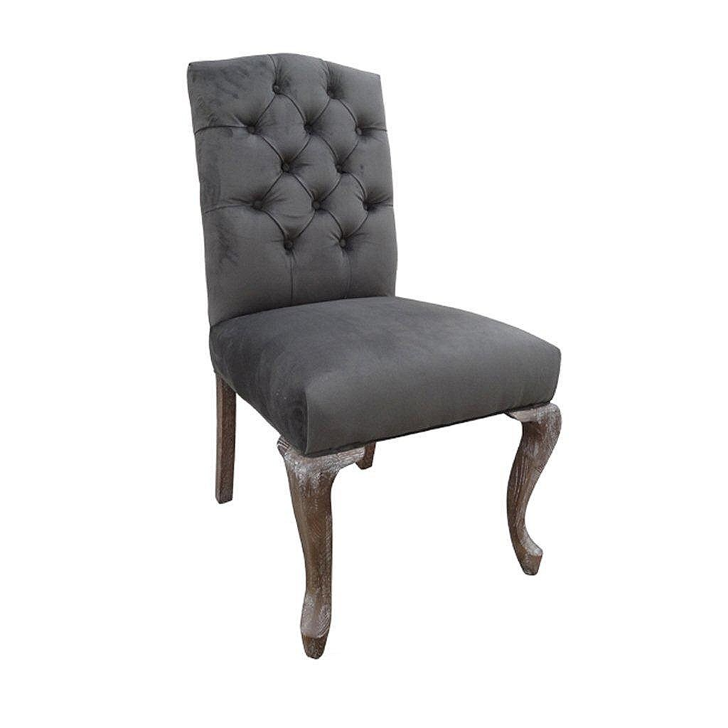 gray parsons chair