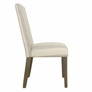 gray parsons chair k f y side