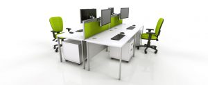 green office chair white office furniture green