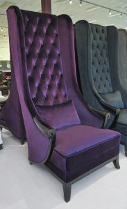 green velvet chair high back chair duchess t purple
