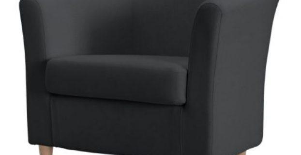grey accent chair tullsta fauteuil gris pe s