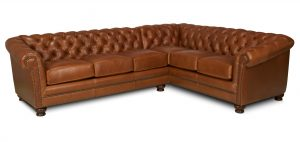 hand shaped chair chesterfield leather sectional